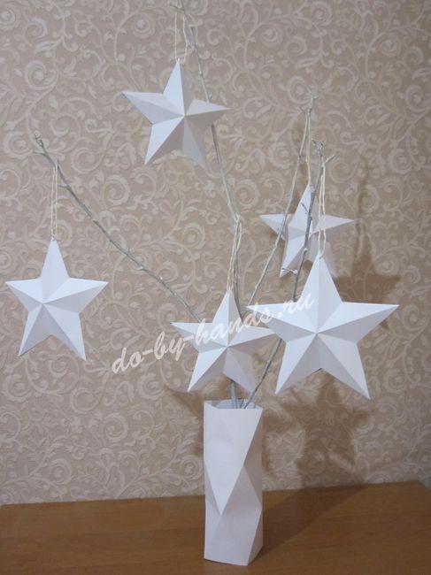 звездное дерево из бумаги