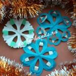 снежинки киригами