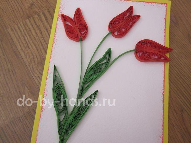 Открытка объемный цветок бумаги своими руками фото 260