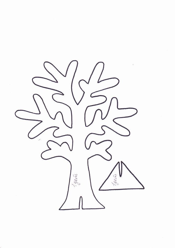 Шаблон трафарета дерево своими руками 505