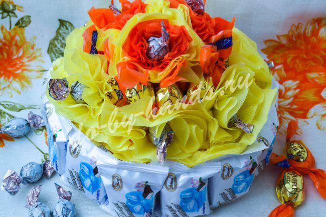 торт из конфет свит дизайн