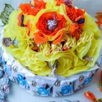 Торт из конфет — свит дизайн
