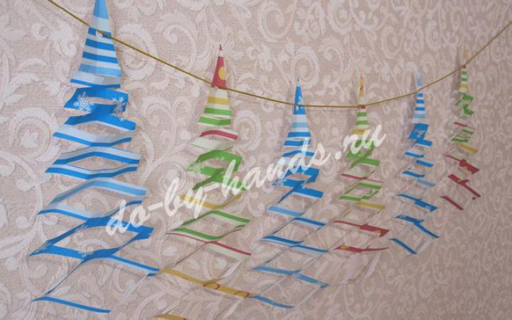 Новогодние гирлянды на елку своими руками