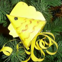 Елочная игрушка из бумаги «Золотая рыбка»