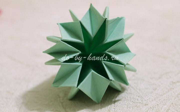 Оригами из бумаги схемы коробочка с крышкой
