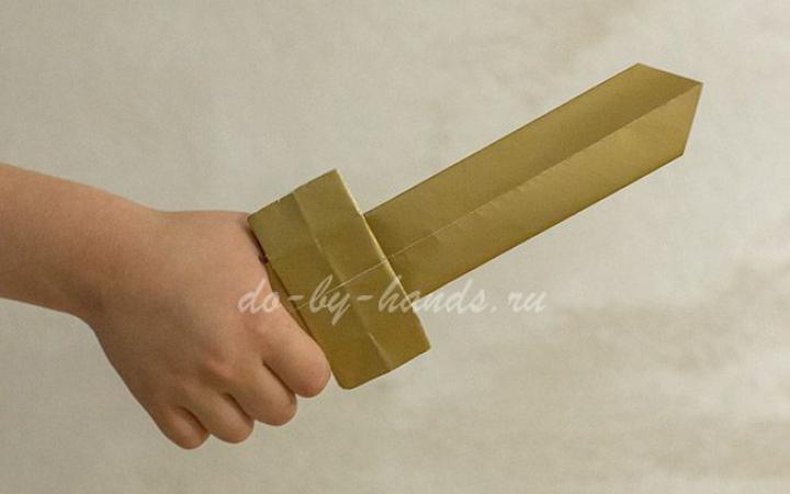 как сделать меч из бумаги пошаговая инструкция