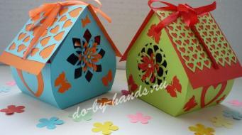 Клубника из бумаги оригами