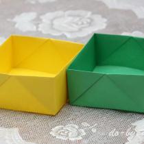 Как сделать коробочку из бумаги: простая коробочка оригами