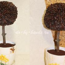Кофейное дерево своими руками: мастер класс с фото по шагам