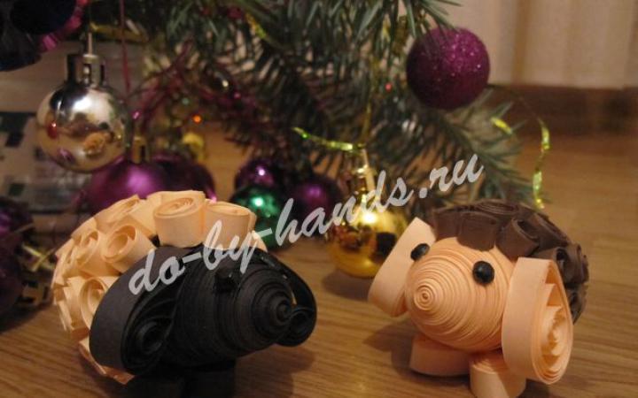 Поделки овечки на новый год от малыша
