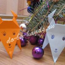 Оригами коза для детей