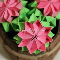 Цветок примулы: модульное оригами