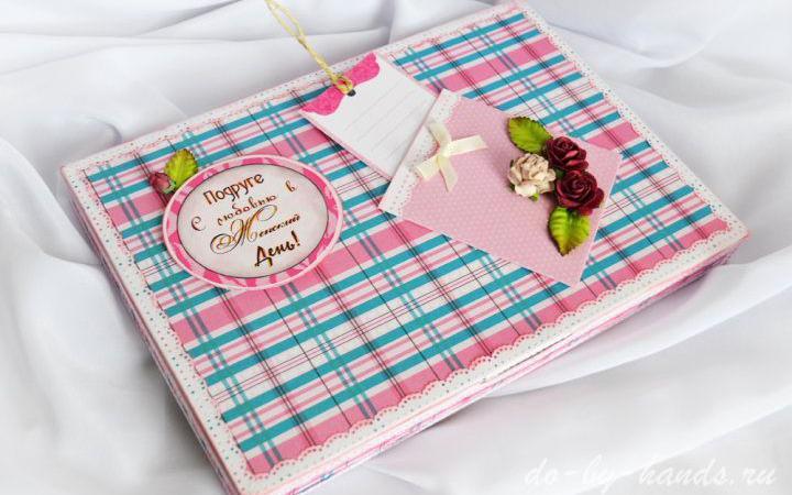Декорирование коробки конфет к празднику 8 Марта