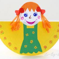 Блинная кукла масленица: для детского творчества