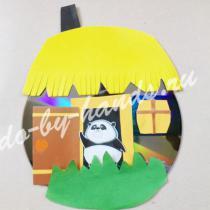 Поделки из СД дисков и бумаги: домик и медуза