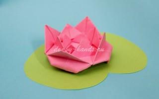 Кувшинка из бумаги своими руками в технике оригами
