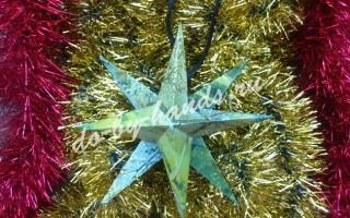 Объемная звезда из бумаги (или картона)