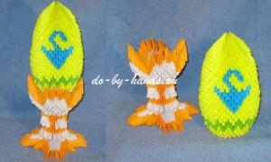 Пасхальное яйцо на подставке: модульное оригами
