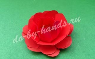 Простой цветок из бумаги, для детей