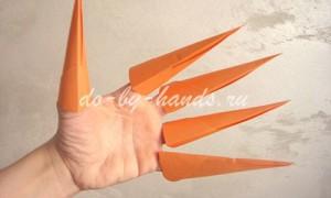 Оригами когти из бумаги — схема