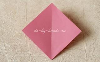 Базовая форма оригами: двойной квадрат