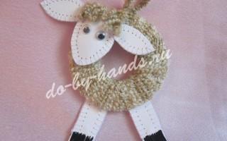 Игрушка овечка на елку