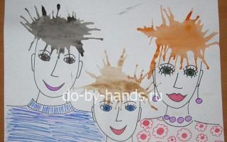 Рисование. Кляксография — мастер класс «Семейный портрет»