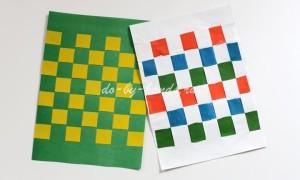 Коврик из цветной бумаги: плетеный
