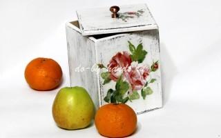 Декупаж коробки в старинном стиле: мастер класс декупажа по дереву