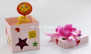 Коробочка с сюрпризом своими руками