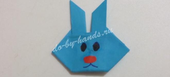 Заяц оригами из бумаги по шагам