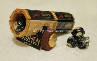 Пушка из конфет: мастер класс