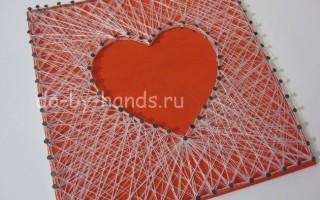 Сердце изонить на день Валентина