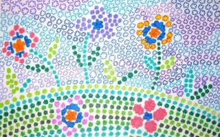 Рисунок «Лето»: Цветочная мозаика