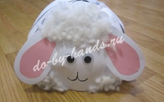Шапочка овечка для новогоднего костюма