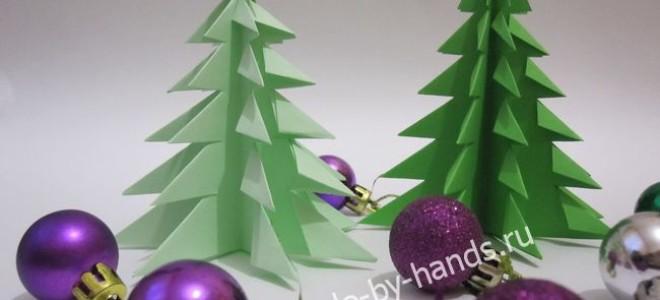 Елочка оригами из бумаги пошагово
