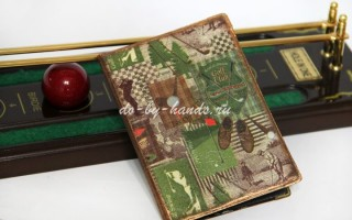 Декупаж обложки на паспорт: в подарок мужчине