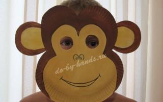 Маска обезьяны из бумаги своими руками