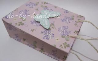 Подарочный пакет из бумаги своими руками