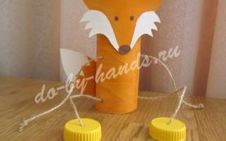 Поделка Лиса из рулонов туалетной бумаги для детей