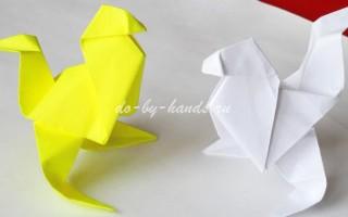 Оригами курочка из бумаги