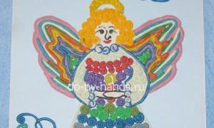 Рождественский ангел — пластилинография для школьников