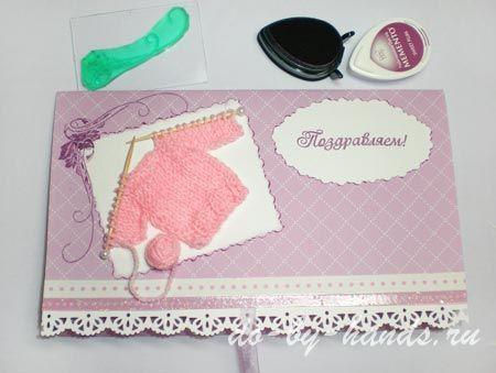 открытка с новорожденной девочкой