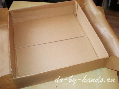 как сделать перегородки в коробке