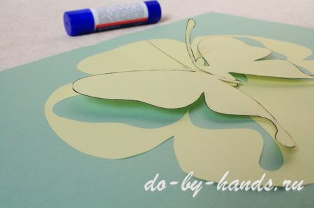 бабочка киригами