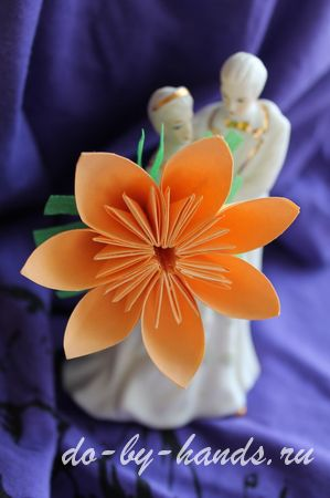 оригами цветок из модулей