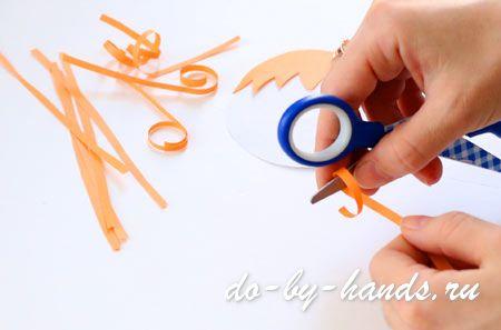 волосы из бумаги для куклы