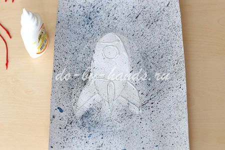 рисунок ракета для детей