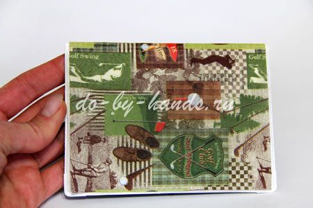 декупаж обложки на паспорт