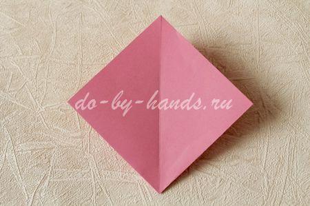 оригами двойной квадрат